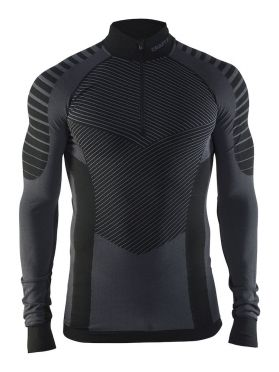 Craft Active intensity zip long sleeve baselayer black/granite men