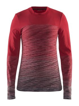 Craft wool comfort 2.0 CN long sleeve baselayer red women