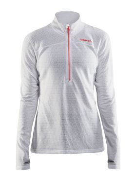 Craft Pin halfzip ski mid layer white women