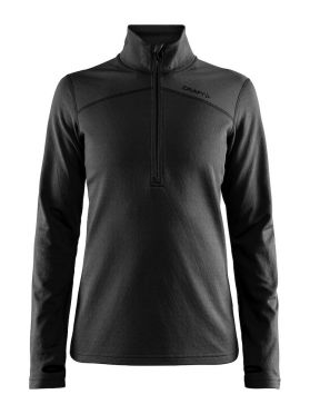 Craft Pin halfzip ski mid layer black women