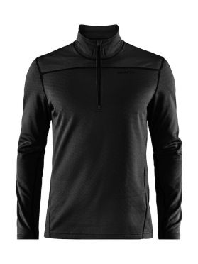 Craft Pin halfzip ski mid layer black men