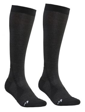 Craft warm high socks black 2-pack
