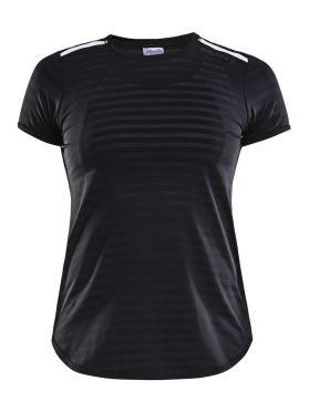 Craft Breakaway short sleeve running shirt black women