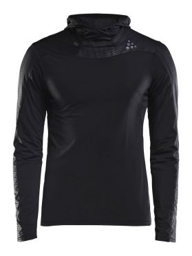 Craft Shade long sleeve hoodie running shirt black men