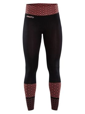Craft Core block running tights black/red women