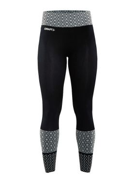 Craft Core block running tights black/white women