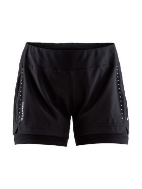 Craft Essential 2-in-1 running shorts black women