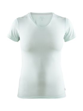 Craft Essential V-neck baselayer green/plexi women