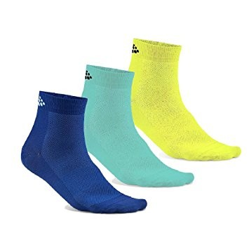 Craft Greatness Mid socks blue/geen/yellow 3-Pack