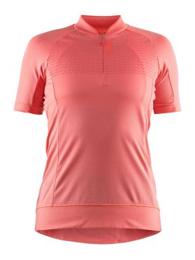 Craft Rise cycling jersey pink women