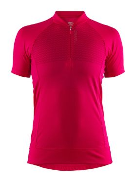 Craft Rise cycling jersey red women