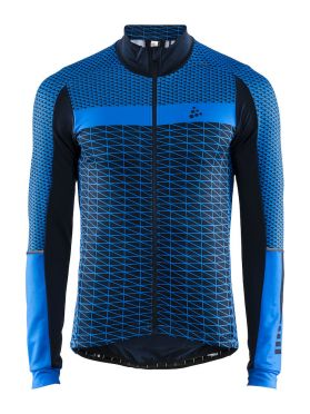 Craft Route cycling jersey long sleeve blue men