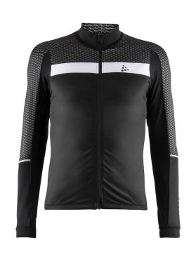 Craft Route cycling jersey long sleeve black men