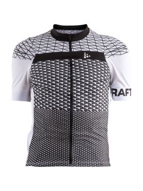Craft Route cycling jersey short sleeve white/black men