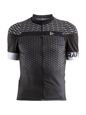 Craft Route cycling jersey short sleeve black men