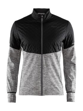 Craft Urban run thermal wind running jacket black/grey men