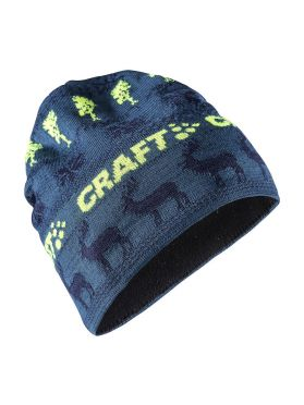 Craft Retro knit hat blue/yellow