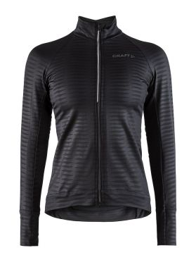 Craft Velo thermal 2.0 cycling jersey long sleeve black women