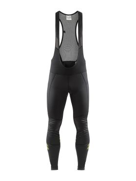Craft Ideal wind bibtight black/yellow men