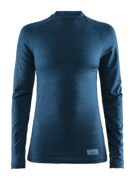 Craft Warm merino long sleeve baselayer blue women