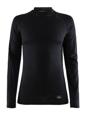 Craft Warm merino long sleeve baselayer black women