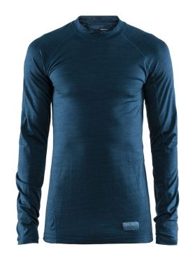 Craft Warm merino long sleeve baselayer blue men