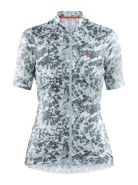Craft Hale Graphic cycling jersey white/green women