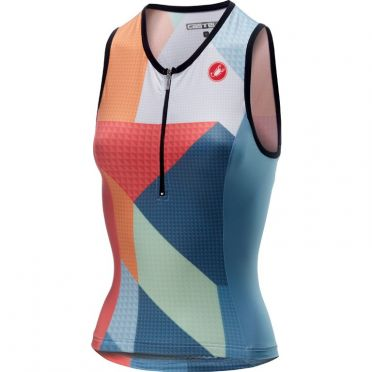 Castelli Core 2 W singlet tri top multi/blue women
