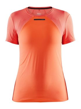 Craft Vent Mesh short sleeve running shirt orange women