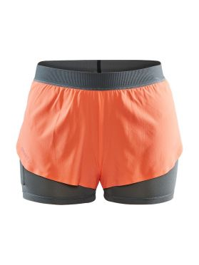 Craft Vent 2 in 1 Racing running shorts orange women