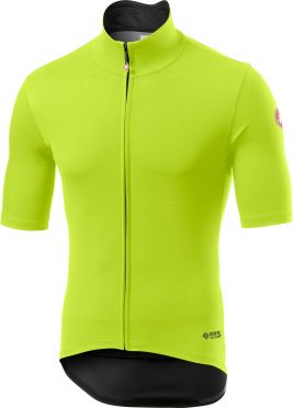 Castelli Perfetto RoS Light short sleeve jersey yellow fluo men