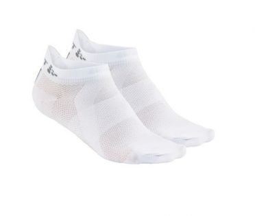 Craft Cool shaftless socks 2-pack white