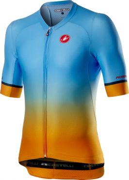 Castelli Aero race 6.0 short sleeve jersey blue/orange men