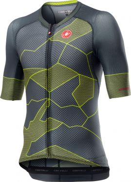 Castelli Climber's 3.0 short sleeve jersey grey/yellow men