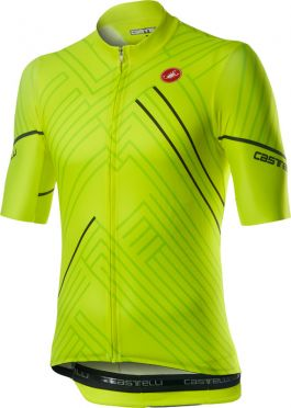 Castelli Passo short sleeve jersey yellow men