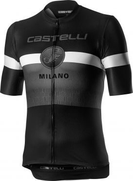 Castelli Milano short sleeve jersey black/white men