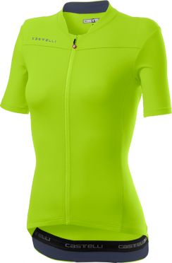Castelli Anima 3 short sleeve jersey yellow women