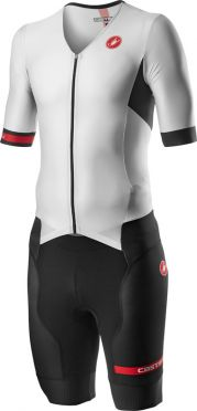 Castelli Free Sanremo 2 trisuit short sleeve white/black men