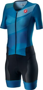 Castelli Free Sanremo 2 W trisuit short sleeve black/blue women