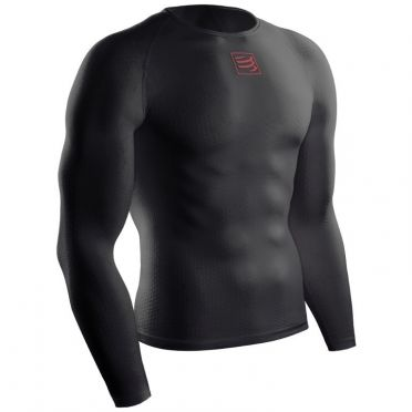 Compressport 3D thermo ultralight shirt long sleeve baselayer black