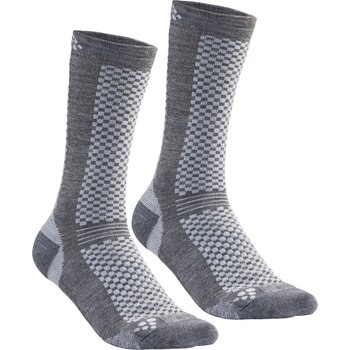 Craft warm mid socks gray 2-pack