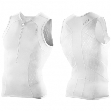 2XU Perform tri singlet men white 2015 MT2850a