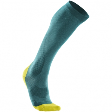 2XU Performance compression socks darkgreen/yellow women WA2443e 2015