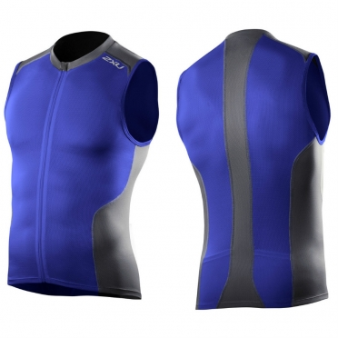 2XU multi-sport tri singlet men's 2014 MT2713a Nautic blue/Charcoal