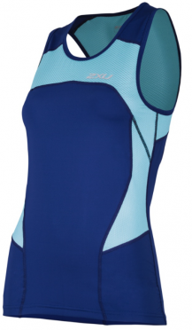 2XU Active Tri singlet blue women