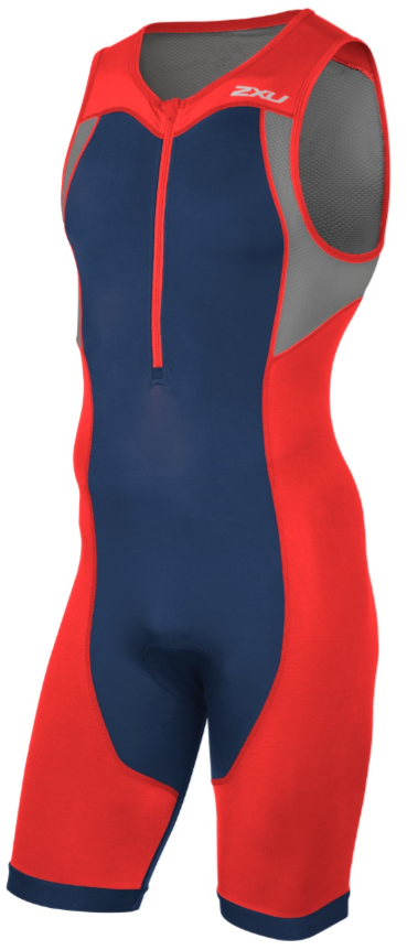 2XU Active Trisuit red/blue men