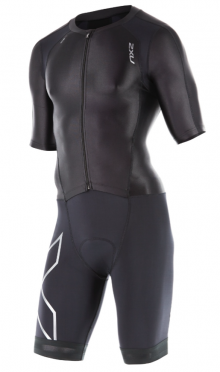 2XU Compression Full Zip sleeved trisuit black men