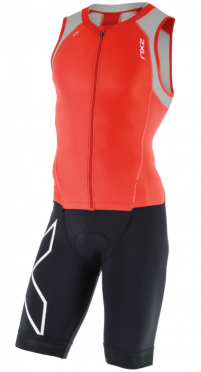 2XU Compression Full Zip trisuit black/red/grey men