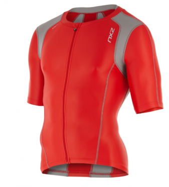 2XU Compression Sleeved Tri Top red/grey men