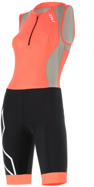 2XU Compression Trisuit Front Zip orange/black women
